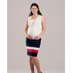 Купить Юбка для беременных Nuova Vita 6101.1. Цвет: синий, белый, красный