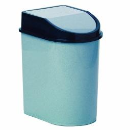 фото Контейнер для мусора с качающейся крышкой IDEA М 2480. Цвет: голубой. Объем: 5 л