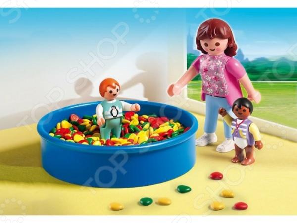 Конструктор игровой Playmobil 5572pm «Детский сад: Игровая площадка с шариками» playmobil игровой набор королева лунного света с жеребенком пегаса