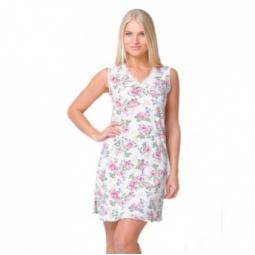 фото Сорочка Santi AW15-UAT-LSS-196. Рисунок: молочные розы. Размер одежды: 42-44