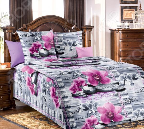 Комплект постельного белья Белиссимо «Орхидея». 1,5-спальный