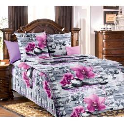 фото Комплект постельного белья Белиссимо «Орхидея». 1,5-спальный