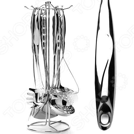 Набор кухонных принадлежностей Mayer&amp;amp;Boch MB-23792Наборы кухонных принадлежностей<br>Набор кухонных принадлежностей Mayer Boch MB-23792 станет отличным дополнением к комплекту кухонной утвари. В набор входят семь предметов: ложка для спагетти, половник, шумовка, две лопатки, толкушка для картофеля и подставка для хранения. Приборы функциональны и удобны в применении; используются для переворачивания кусков мяса, рыбы и овощей во время жарки, разливания супов и бульонов, съема пены, приготовления пюре, раскладывания общих блюд по порционным тарелкам и т.д. Кухонные принадлежности выполнены из высококачественной нержавеющей стали.<br>