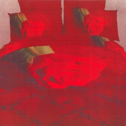 фото Комплект постельного белья Domomania Pismo. Satin Fotoprint. Евро
