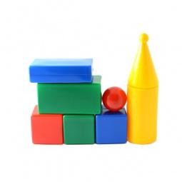 Купить Набор кубиков Строим вместе «Строительная стена с 8 шарами»