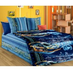 фото Детский комплект постельного белья Бамбино «Неон». Цвет: синий