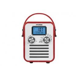 фото Радиобудильник Hyundai H-1623. Вид: красная кожа