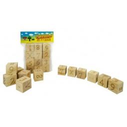 фото Кубики обучающие Русские деревянные игрушки «Цифры и Знаки» Д164а