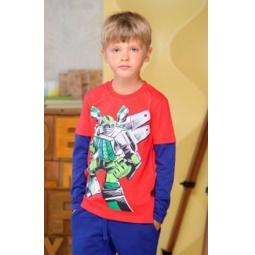 фото Футболка для мальчиков Detiland AW15-UKN-BTL-017. Цвет: красный. Рост: 110 см