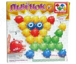 Мозаика напольная Toys Union «Львенок»Мозаика<br>Мозаика напольная Toys Union Львенок это интересная игра-головоломка для детей. Мозаика предоставляет уникальную возможность развить у ребенка мелкую моторику рук и координацию движений, а также наглядно-образное мышление, зрительную и тактильную память, умение ориентироваться на плоскости, творческие способности, фантазию и воображение. Мозаика Toys Union это отличный подарок для любознательного ребенка.<br>