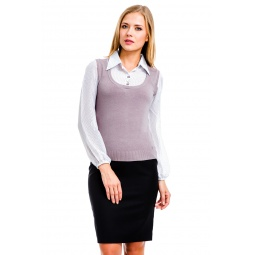 фото Блузка Mondigo 9445. Цвет: серый. Размер одежды: 44