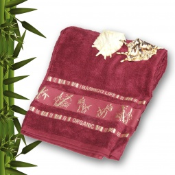 фото Полотенце махровое Mariposa Tropics lilac. Размер полотенца: 70х140 см