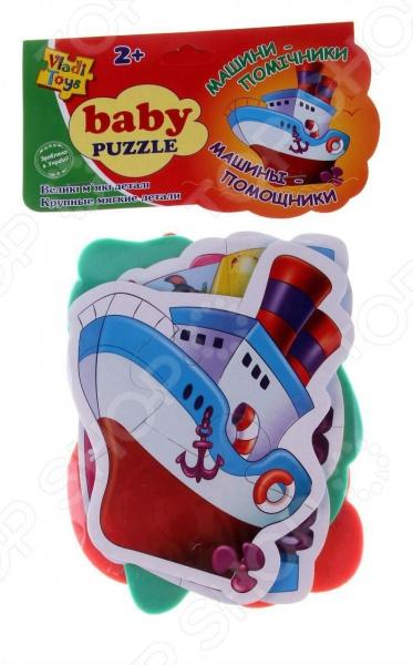 Пазл мягкий Vladi Toys Baby puzzle «Транспорт»Другие виды пазлов<br>Пазл мягкий Vladi Toys Baby puzzle Транспорт яркий и красочный пазл для самых маленьких. Оригинальный рисунок сделает сбор пазла ещё более интенсивным и увлекательным, а большие и крупные детали позволят собрать его без помощи мамы или папы. Красочные картинки выполнены из вспененного полимера, который удобно ложится в руки ребенка и не рвется при любом неловком движении. Такой пазл будет не только занимательным развлечением, но и обучением, ведь с его помощью малыш познакомится с различными видами транспорта. При игре малыш без труда сможет натренировать мелкую моторику рук, воображение, логическое мышление, внимательность, ассоциативное мышление, усидчивость.<br>