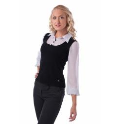 фото Блузка Mondigo 9445. Цвет: черный. Размер одежды: 46