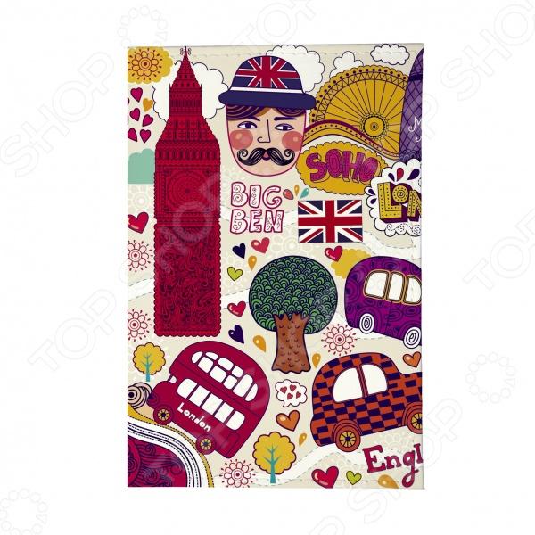 Обложка для паспорта Mitya Veselkov «Красочный Лондон» как дешевые билеты в лондон