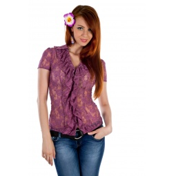 фото Блузка Mondigo 9612. Цвет: темно-розовый. Размер одежды: 46