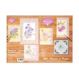 Купить Набор схем для парчмента Pergamano M6 Пастельные цветы