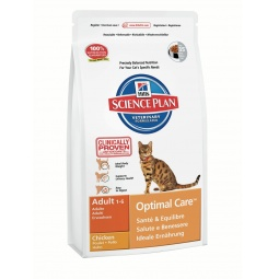 фото Корм сухой для кошек Hill's Science Plan Optimal Care с курицей. Вес упаковки: 400 г
