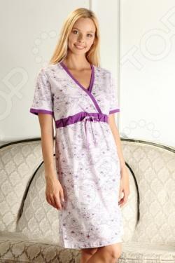 Сорочка для беременных Nuova Vita 206.1. Цвет: лиловый, фиолетовый