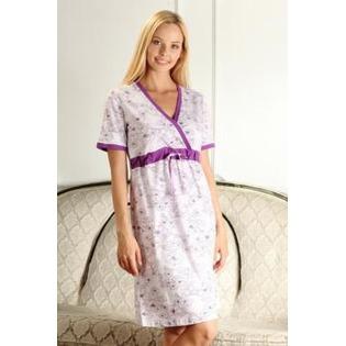 Купить Сорочка для беременных Nuova Vita 206.1. Цвет: лиловый, фиолетовый