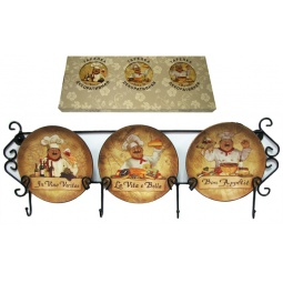 Купить Набор из 3-х тарелок Elan Gallery «Повара» горизонтальный