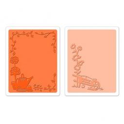 фото Набор форм для эмбоссирования Sizzix Textured Impressions Тачка и лейка