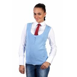 фото Жилет Mondigo 9402. Цвет: голубой. Размер одежды: 44
