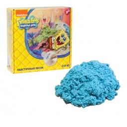 фото Песок кинетический 1 Toy «Губка Боб». Цвет: голубой