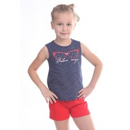 фото Комплект для девочки: топ и шорты Свитанак 606492. Рост: 122 см. Размер: 32