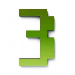 фото Дверной номерок Студия Артемия Лебедева «Дигитус» 3. Цвет: зеленый
