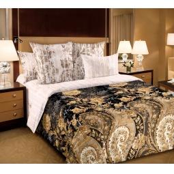 фото Комплект постельного белья Королевское Искушение с компаньоном «Музей». Семейный. Цвет: коричневый