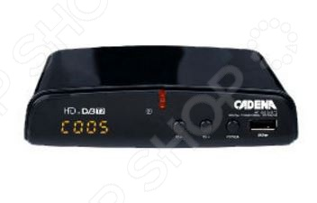 Ресивер CADENA HT-1302TV-тюнеры. Ресиверы. Комплекты спутникового оборудования<br>Ресивер CADENA HT-1302 устройство, используемое для преобразования цифровых DVB-T и DVB-T2 сигналов и передачи их на телевизор, посредством HDMI-разъема. Он станет отличным дополнением к набору вашей мультимедийной техники и позволит наслаждаться просмотром любимых фильмов и телепередач в прекрасном качестве. Ресивер снабжен цифровым аудиовходом, доступом к электронной программе передач телегид на 7 дней , функцией телетекста и режимом отложенного просмотра. В комплекте пульт дистанционного управления. Поддержка русских субтитров.<br>