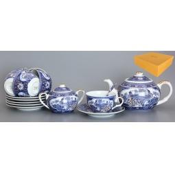 Купить Чайный набор с чайником Elan Gallery «Павлин синий»