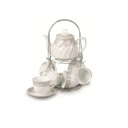фото Чайный набор на подставке Grazie «Нежный бутон» с чайником