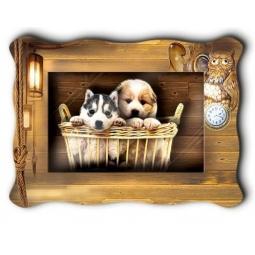 фото Картинка объемная Vizzle «Верные друзья»