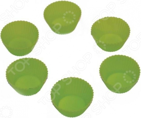 Форма для выпечки Marmiton «Кексы». В ассортиментеСиликоновые формы для выпечки и запекания<br>Товар продается в ассортименте. Цвет изделия при комплектации заказа зависит от наличия цветового ассортимента товара на складе. Форма для выпечки Marmiton Кексы изготовлена из 100 силикона. Можно использовать в микроволновой, газовой и электрической печи. Выпечка в такой форме не подгорает и отлично отходит от стенок. Силиконовую форму не надо смазывать маслом просто сбрызнете их водой. Идеальна для выпекания не только кондитерских изделий, но и мяса, рыбы, омлетов, запеканок, овощей. В комплекте 6 штук.<br>