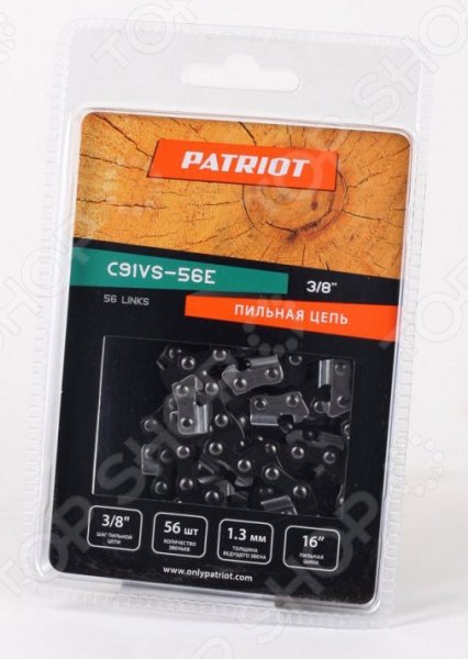 Цепь для цепных пил Patriot 91VS-56E  цепь patriot 91vs 56e 3 8