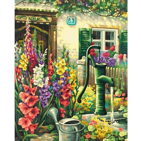 Купить Набор для рисования по номерам Schipper «Цветник у дома»