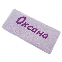 фото Полотенце подарочное с вышивкой TAC Оксана. Цвет: сиреневый