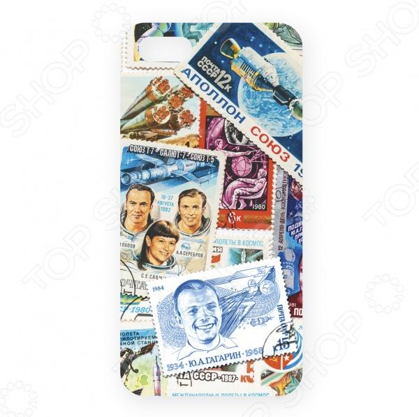 Чехол для iPhone 5 Mitya Veselkov «Космос (марки)» mitya veselkov чехол для iphone 6 космос