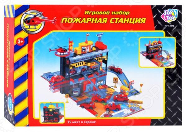 Набор игровой для мальчика PlaySmart «Пожарная станция» playsmart р40839
