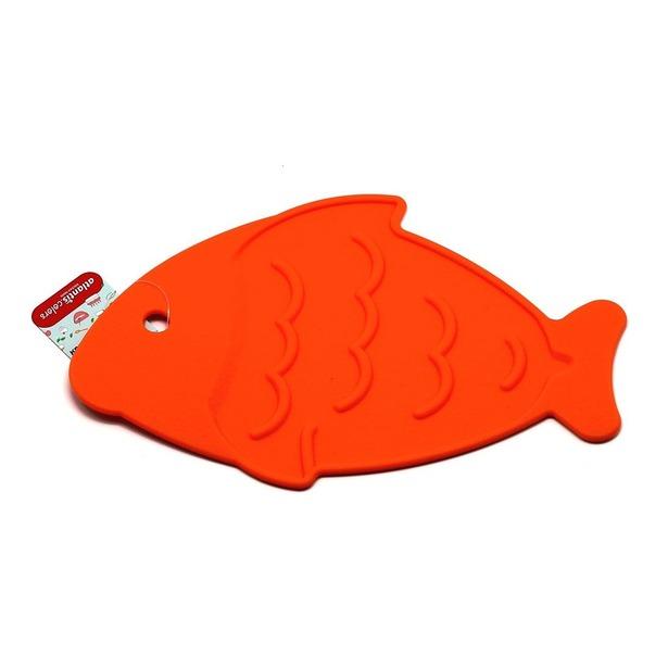 фото Подставка под горячее силиконовая Atlantis «Рыба» SC-MT-013. Цвет: оранжевый