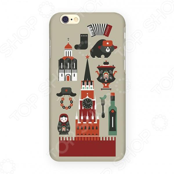 Чехол для iPhone 6 Mitya Veselkov «Из России с любовью» чехол для iphone 6 глянцевый printio с именем лиза