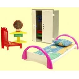 фото Набор мебели игрушечный Форма «Спальня». В ассортименте