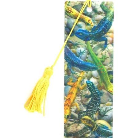 Купить 3D-закладка для книг Липуня «Ящерицы»