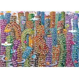 Купить Пазл 2000 элементов Heye «Город» Guillermo Mordillo