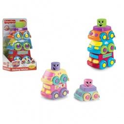 фото Игрушка развивающая Fisher Price Кубики-блоки с сюрпризами. Авто-пирамидка. В ассортименте