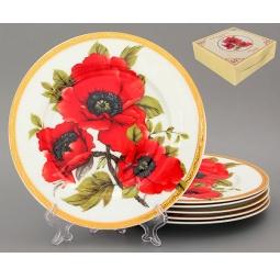 Купить Набор тарелок Elan Gallery «Маки»