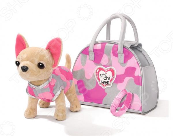 Плюшевая игрушка Simba «Собачка чихуахуа с сумкой»Мягкие игрушки<br>Плюшевая игрушка Simba Собачка чихуахуа с сумкой чудесный подарок для вашего любимого чада. Очаровательный щеночек никого не оставит равнодушным, подарит вам и вашим детям умиление и радость. В его лице малыш обретет настоящего друга, которому сможет доверить любые секреты. Вместе они отправятся в увлекательное путешествие по страницам волшебных сказок и мультфильмов. Игрушка мягконабивная, выполнена из высококачественного искусственного меха. Предназначено для детей в возрасте от 5-ти лет. В игровой набор входят: стильная сумочка, собачка и браслет.<br>
