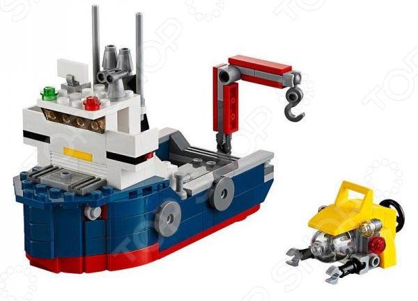 Конструктор игровой LEGO «Морская экспедиция»Конструкторы LEGO<br>Конструктор игровой Lego Морская экспедиция прекрасный подарок для юного конструктора. Комплект содержит детали, с помощью которых можно собрать грузовое судно для морских экспедиций. Игровой набор не только обучает и развлекает, но и помогает развивать моторику рук, логическое мышление и воображение ребенка. Все детали выполнены из нетоксичных материалов, поэтому полностью безопасны. Рекомендуется для детишек от 5 лет и старше. Преимущества:  Множество оригинально выполненных элементов.  Увлекательный процесс сборки.  Качественный материал.<br>